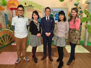 J:COM「おちゃのこSaiSai」テレビに生出演しました(2016.2.17)